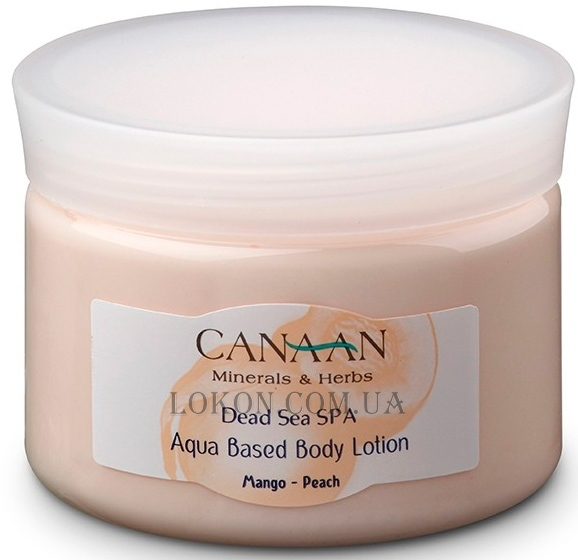 CANAAN Minerals & Herbs SPA Aqua Based Body Lotion Mango-Peach - Лосьон для тела на водной основе