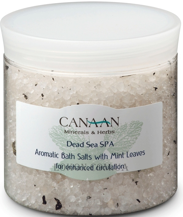 CANAAN Minerals & Herbs SPA Aromatic Bath Salts with Mint Leaves - Ароматическая соль для ванн с лепестками мяты