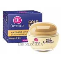 DERMACOL Gold Elixir Rejuvenating Caviar Night Cream 50+ - Крем ночной омолаживающий