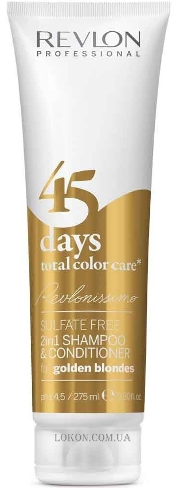REVLON Revlonissimo 45 Days Golden Blondes 2in1 - Шампунь-кондиционер