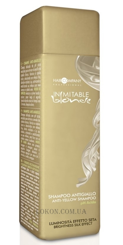 HAIR COMPANY Inimitable Blond Anti-Yellow Shampoo - Шампунь анти-жёлтый