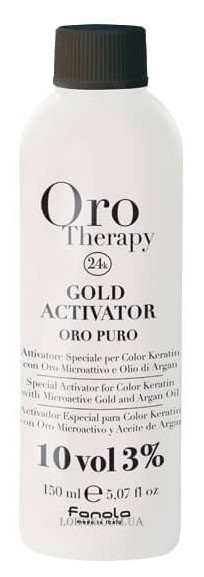 FANOLA Oro Therapy Gold Activator 10 vol - Активатор с микрочастицами золота 3%
