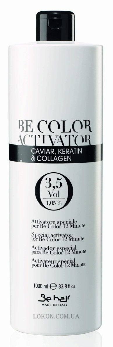 BE HAIR Be Color Аctivator with Caviar, Keratin and Collagen 3,5 vol - Окислитель 1,05%