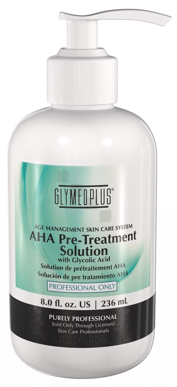 GLYMED PLUS Professional Use Only AHA Pre-Treatment Solution - Предпилинговый раствор АНА