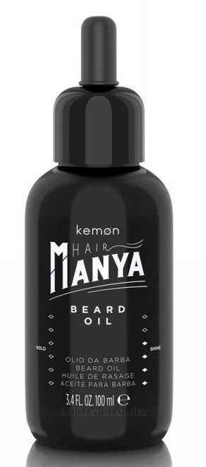 KEMON Hair Manya Man Beard Oil - Дисциплинирующее масло для бороды