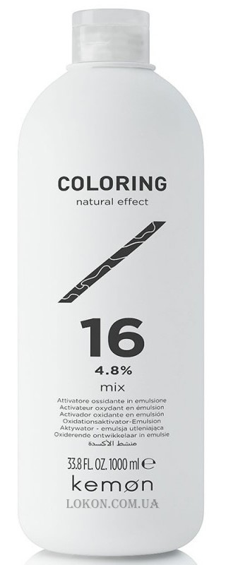 KEMON Coloring Natural Effect Activator Mix 16 - Активатор 4,8%