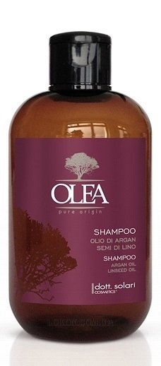DOTT.SOLARI Olea Pure Origin Shampoo Argan Oil Linseed Oil - Шампунь с маслами арганы и семени льна