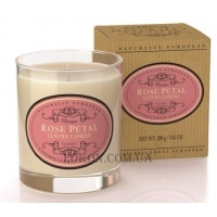 NATURALLY EUROPEAN Luxury Scented Candle Rose Petal - Ароматическая свеча