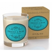 NATURALLY EUROPEAN Luxury Scented Candle Freesia & Pear - Ароматическая свеча