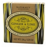 NATURALLY EUROPEAN Soap Ginger and Lime - Мыло