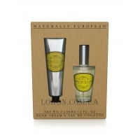 NATURALLY EUROPEAN Hand Cream& Eau de Toilette Ginger and Lime - Набор