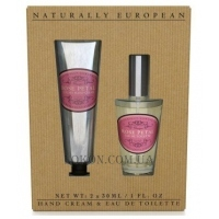 NATURALLY EUROPEAN Hand Cream & Fine Fragrance Bespoke Collection Rose Petal - Набор