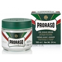 PRORASO Green Line Pre-Shaving Refreshing and Toning Cream - Тонизирующий крем до бритья