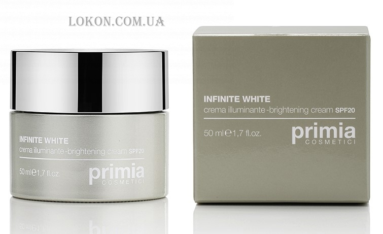 PRIMIA Infinite White Brightening Cream SPF-20 - Осветляющий крем SPF-20