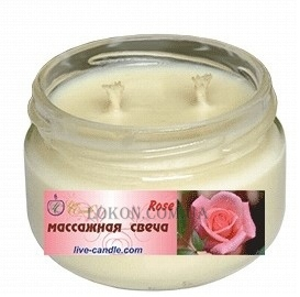 LIVE CANDLE Massage Candle Rose - Массажная свеча