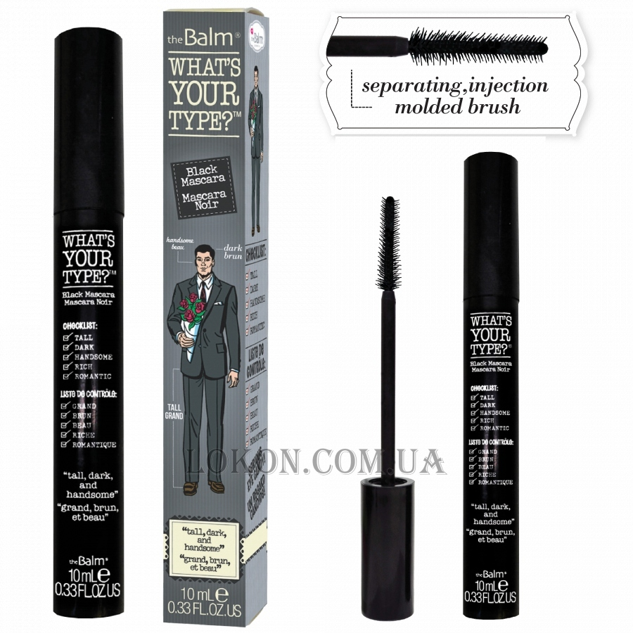 TheBALM Whats Your Type Mascara Tall Dark and Handsome - Тушь для ресниц