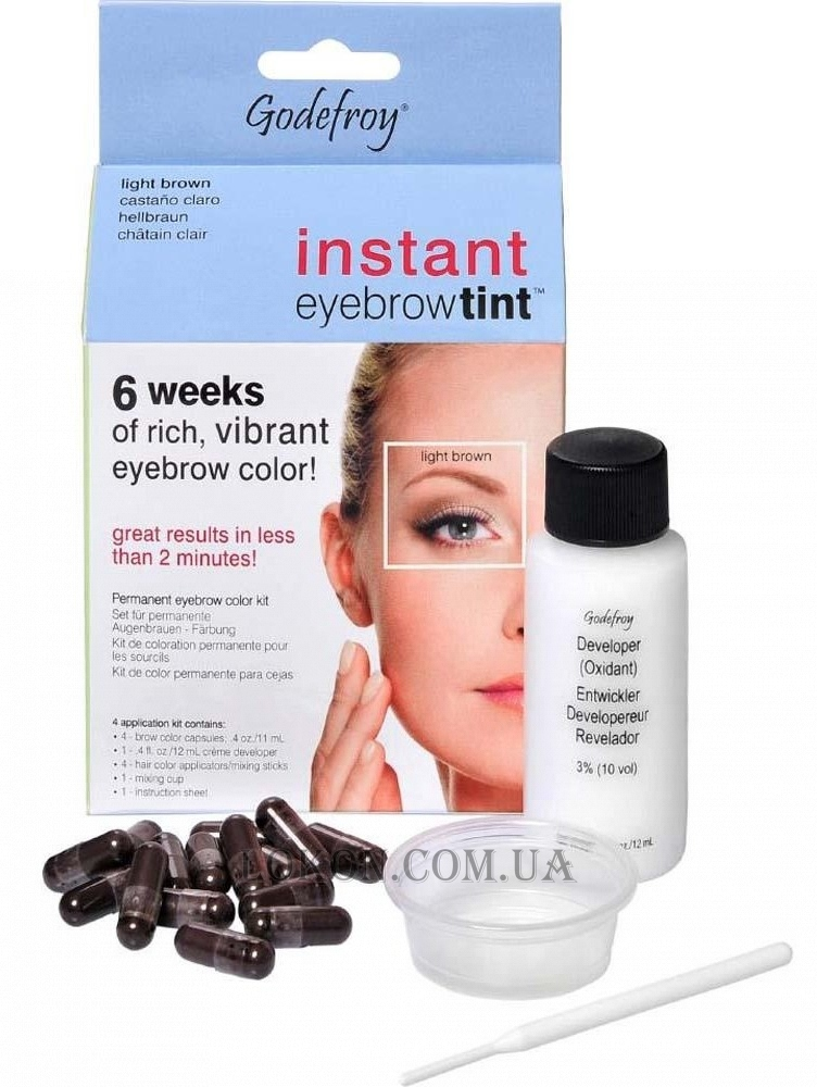 Godefroy Instant Eyebrow Tint Blister Light Brown Blister 505