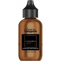L'OREAL Colorfulhair Flash Pro Hair Make-Up Uptown Brown - Краска-макияж для волос