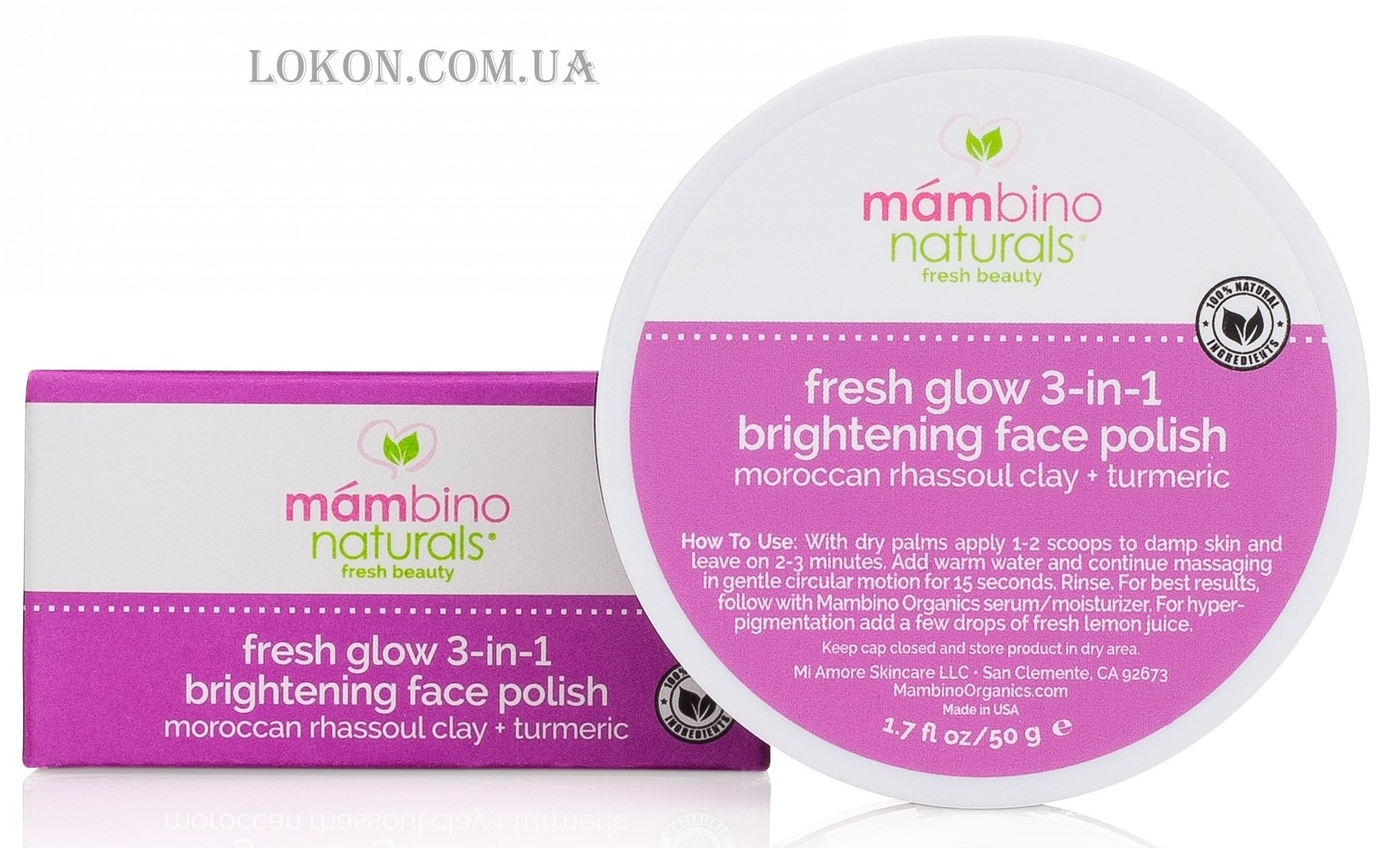 MAMBINO Organics Fresh Glow 3-in-1 Face Polish - Скраб для лица 3 в 1