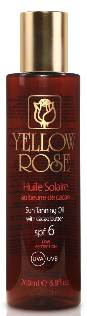 YELLOW ROSE Huile Solaire SPF-6 - Масло для загара SPF-6