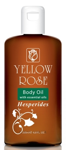 YELLOW ROSE Body Oil Hesperides - Массажное масло с эфирными маслами лимона, мандарина и апельсина