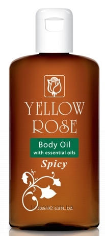 YELLOW ROSE Body Oil Spicy - Массажное масло с восточными специями