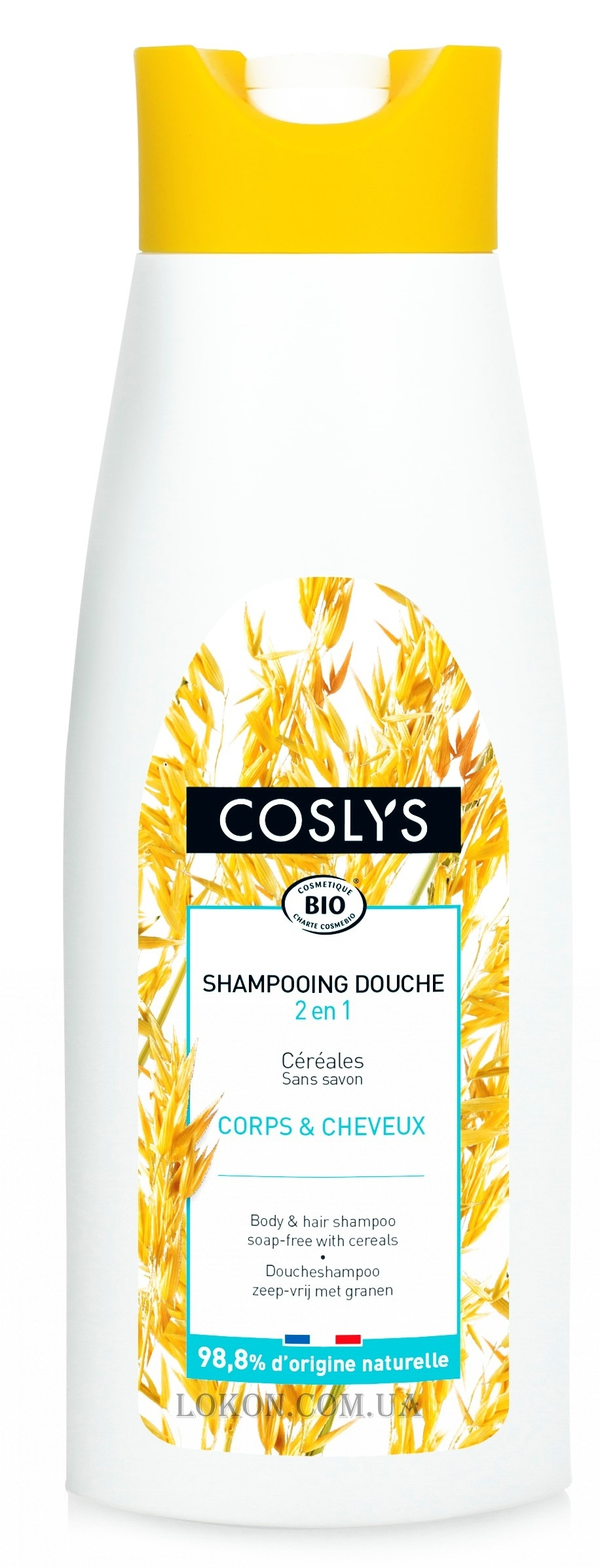 COSLYS Body&Hair Shampoo 2-in-1 soap-free with Cereals - Шампунь для волос и тела на основе злаков без мыла