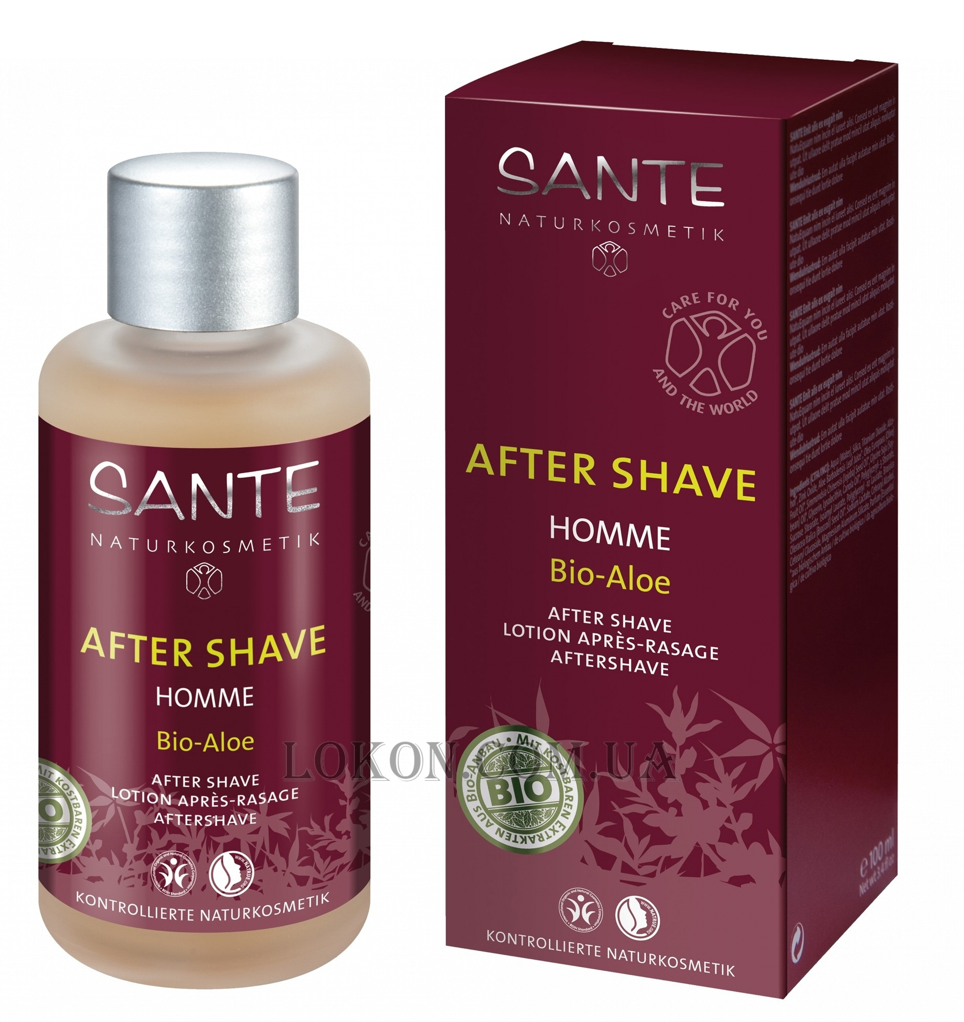 SANTE Homme Bio-Aloe Lotion After Shave - Лосьон после бритья